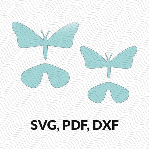 3d paper butterfly template