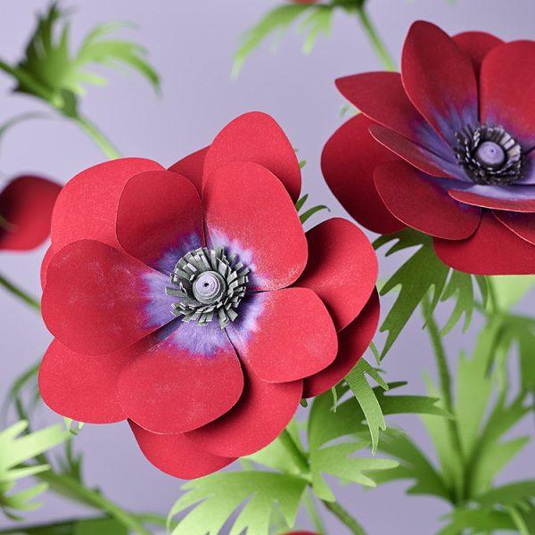 Anemone paper flower