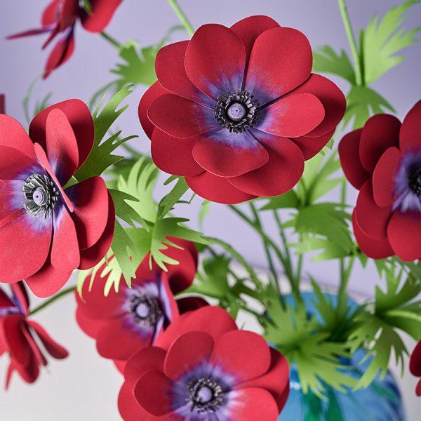 DIY paper Anemone Bordeaux flowers