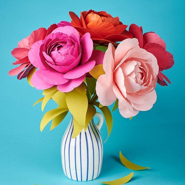 DIY peony paper flower bouquet