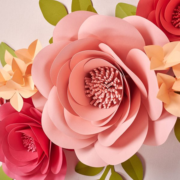 giant paper rose flower wall