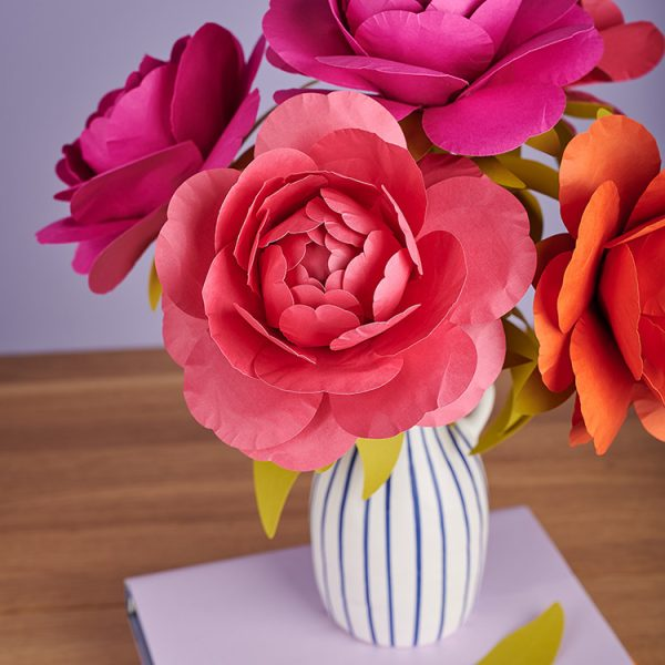 handmade peony paper flowers
