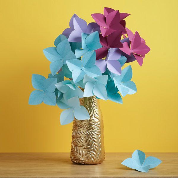 Hydrangea paper flower bouquet