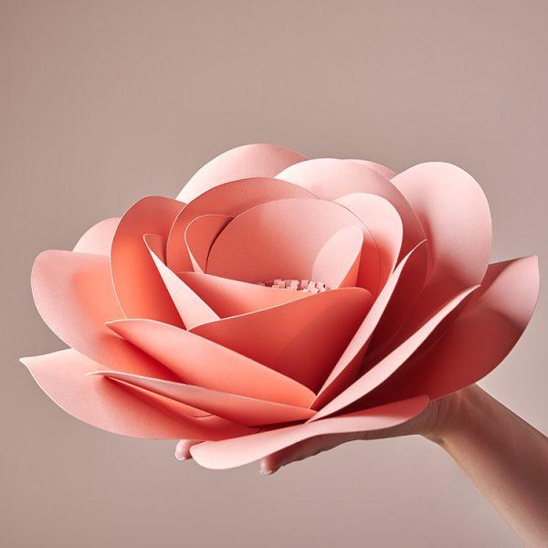 DIY large paper flower garden rose