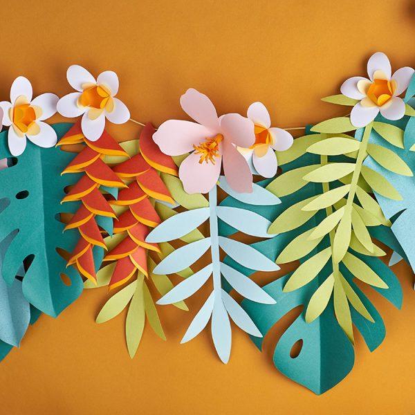 Tropical Paper Flower Garland