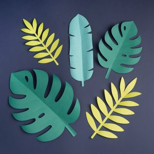 Tropical paper leaves