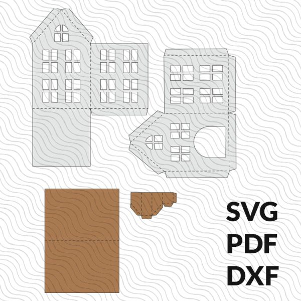 3D paper house template