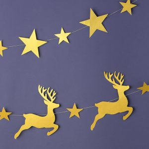 Deer Paper Christmas Garland