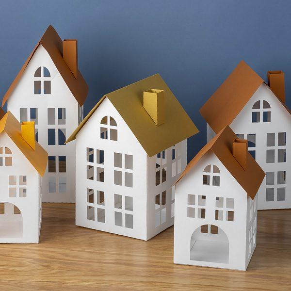 DIY 3D paper house