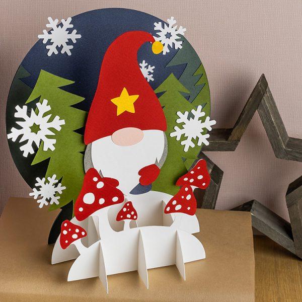 DIY gnome 3D paper craft