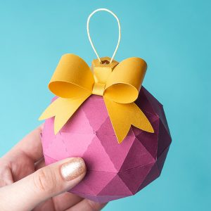 DIY paper Christmas ornament ball