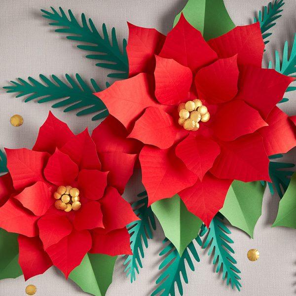 DIY poinsettia paper flower