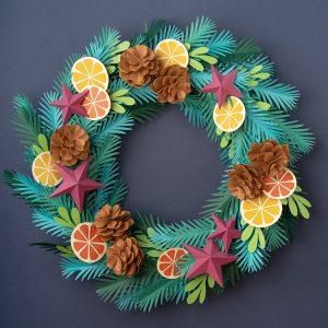 Paper Christmas wreath