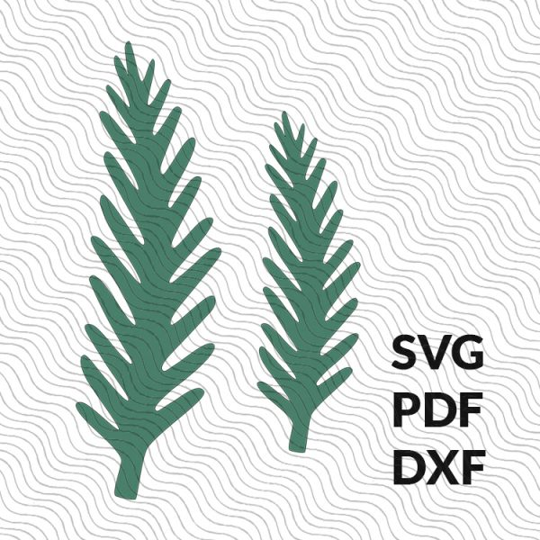 Paper spruce branch template