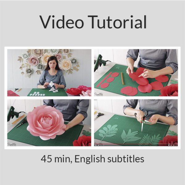 Paper peonies video tutorial
