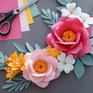 DIY paper flower set