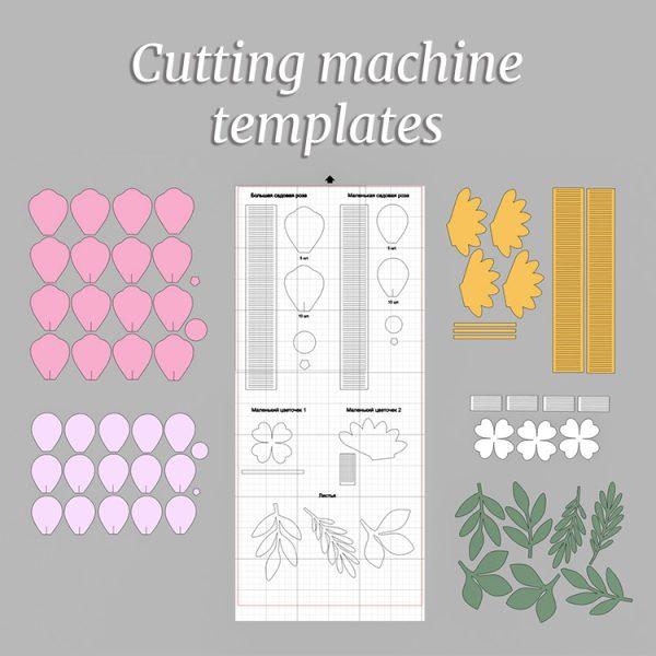 paper flowers templates cricut