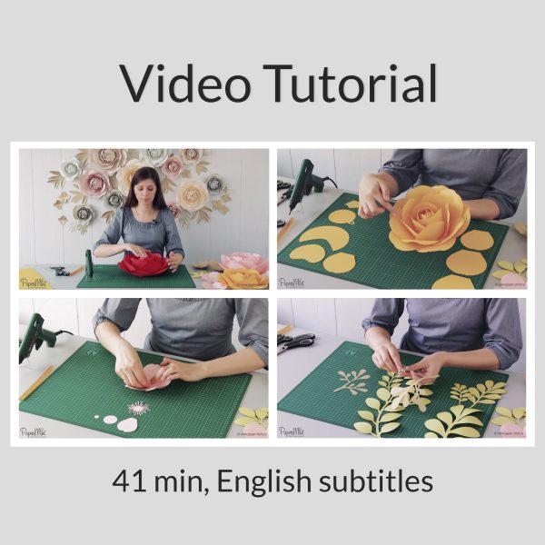 Giant paper rose video tutorial
