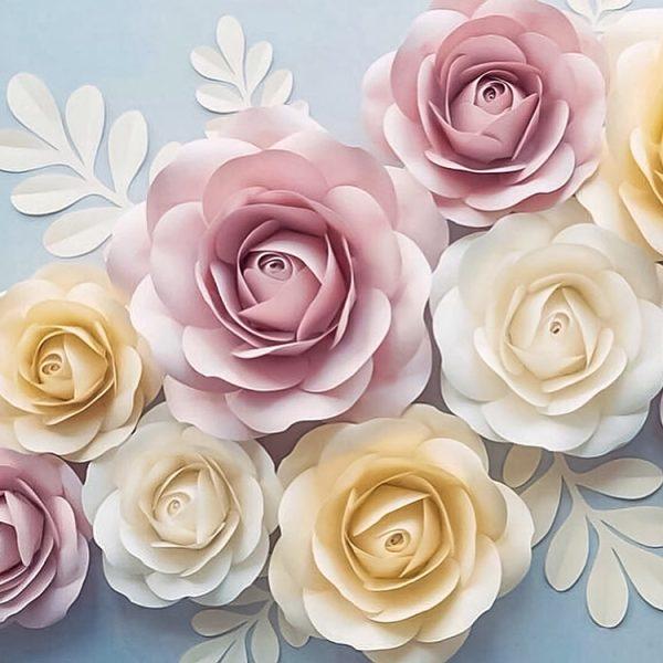 pastel paper roses all art