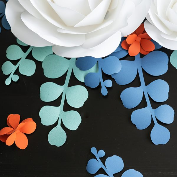large paper flower leaves