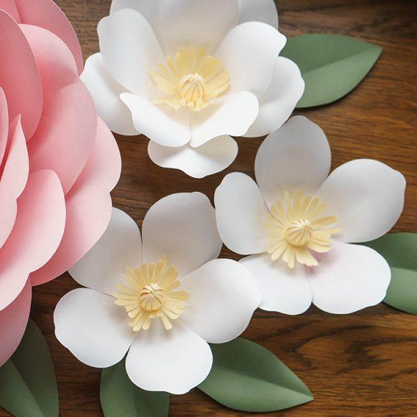 large paper flowers magnolia
