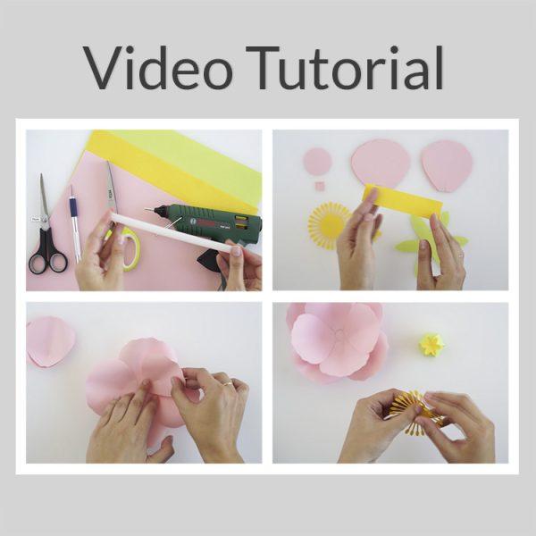 poppy paper flower video tutorial ogcrafts