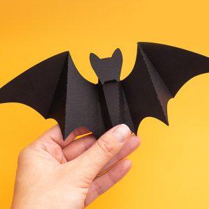 DIY paper bat halloween decor