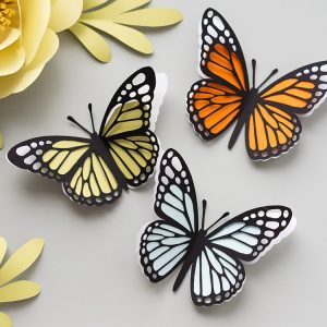 3d paper butterfly monarch