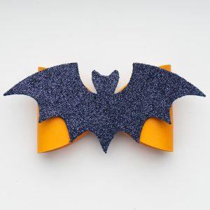 faux leather bat bow halloween